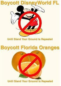 DISNEY, CITRUS ON THE LINE Activists around the country say Florida should be punished with a boycott for its Stand Your Ground law.