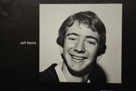 This undated photo shows Jeff Bezos as a Palmetto Senior High student in Miam-Dadei.