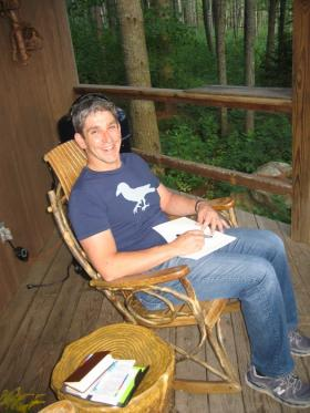 Richard Blanco at home in Maine