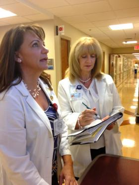 Candice Hickman, left, and Lynn Coopersmith, right, are co-coordinators of the Tender Loving Care-Advanced program.
