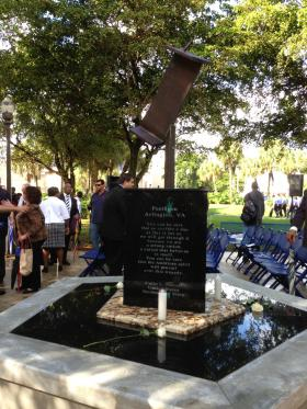 The new 9/11 memorial at Miami-Dade College's North Campus