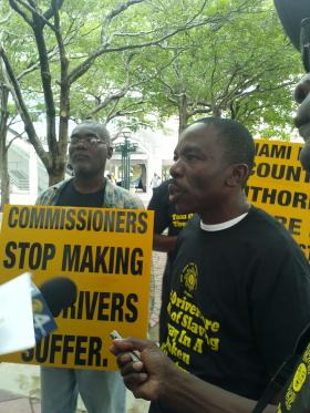 Raymond Francois heads up the New Vision Taxi Driver Association.
