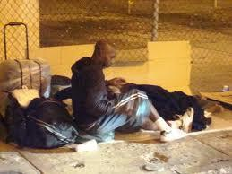 A homeless man in Miami.