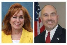 State Sen. Eleanor Sobel, D-Hollywood, and state Rep. Matt Hudson, R-Naples.