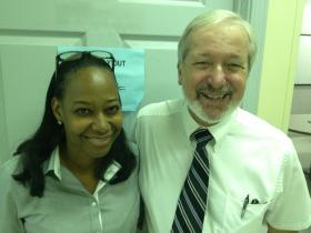 Dr. Joycelyn Lawrence and Dr. Arthur Fournier are part of the Dr. John T. MacDonald School Health Initiative in Miami.