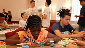 Makers get down to business at the four-week summer maker camp held in Delray Beach.