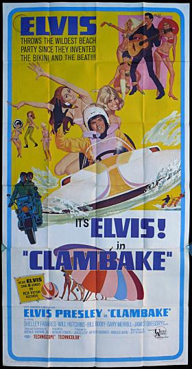 "Poster of Elvis Presley's ""Clambake,"" which was partially filmed at the Miami Marine Stadium."
