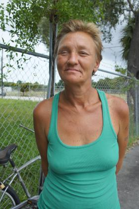 Jessica Vilches has been on the streets since 1986. She has been unable to enter into a drug treatment program.