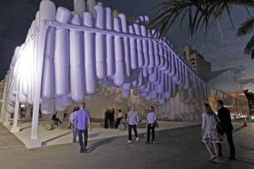 The entrance to Design Miami/ 2012, commissioned specifically for the fair.
