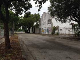 Streets like this one between NW 16th and 17th St. are home to Miami's homeless population.