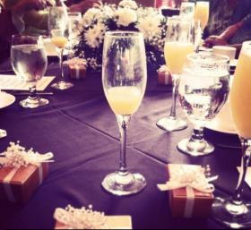 Mimosas, that sweet and sparkly celebratory concoction so popular at bridal showers, where women sip, whisper and share.