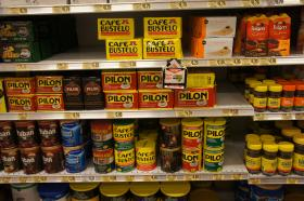 Cafe Pilon and Cafe Bustelo are now on the shelves of most major grocery stores.