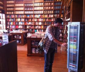 Jaswinder Bolina browses at Books & Books near the University of Miami campus, where he works as an assistant professor.
