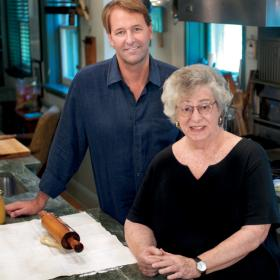 Michael Ruhlman and his neighbor Lois Baron