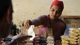 A private Cuban shop vendor