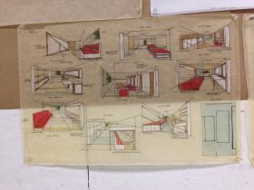 One student's design for an apartment unit targeting homeless people.