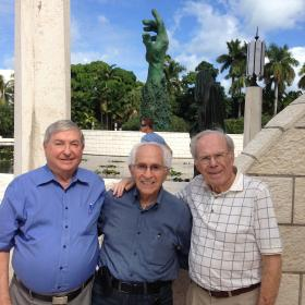CLAIMANTS: From left, Holocaust survivors David Mermelstein, Israel Sachs and Herbert Karliner.