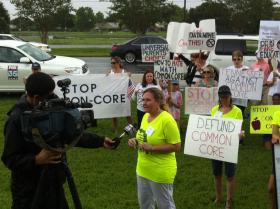 Florida Parents Against Common Core protested a national meeting discussing the standards in Orlando last month.