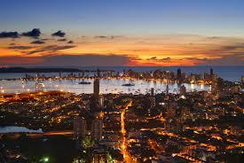 Cartagena, Colombia, at sunset