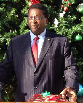 EZRA'S GIFT: State Rep. Perry Thurston offered a Christmas present to one of the 40 children who died under DCF supervision last year. He blames Gov. Rick Scott's budget decisions for the deaths.