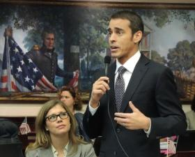 Rep. Erik Fresen, R-Miami, addresses the House of Representatives on May 2, 2013.
