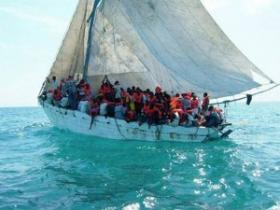Haitian migrants in an overloaded vessel similar to one that capsized off the Turks & Caicos Islands Christmas morning.