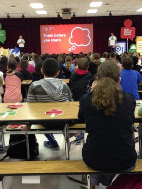 Safety First: Google's Good To Know Road Show at Pioneer Middle School.