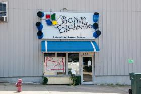 Reporter WIlson Sayre recalls fun times at scrap exchanges run by an art organization called the Scrap Exchange.