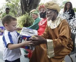 The Magi hand out toys at a Three Kings Day event in Miami's Little Havana.