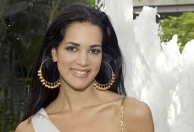 This May 23, 2005 file photo released by Miss Universe shows Monica Spear, Miss Venezuela 2005, posing for a portrait ahead of the Miss Universe competition in Bangkok, Thailand. Venezuelan authorities say the soap-opera actress and former Miss Venezuela and her husband were shot and killed resisting a robbery after their car broke down. Prosecutors said in a statement that Monica Spear and Henry Thomas Berry were slain late Monday, Jan. 6, 2014 near Puerto Cabello, Venezuela's main port.