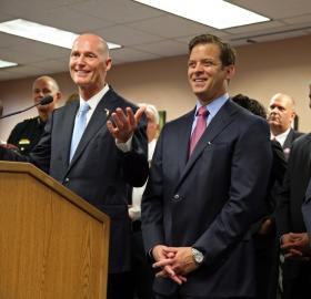 """What's important is to have a great lieutenant governor,"" Governor Scott said at a press conference announcing the appointment of Miami-Dade Property Appraiser Carlos Lopez-Cantera as lieutenant governor. But, Scott added, ""I love the fact he's Hispanic."""