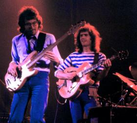 Pat Metheny, right, really liked stripes in his early days.