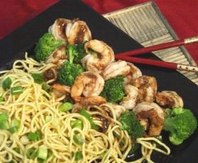 Five-Spice Shrimp with Chinese Noodles