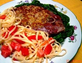 Florentine Lamb with Tomato Linguine