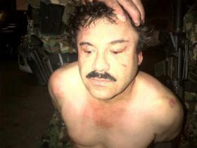 "Joaquin ""Chapo"" Guzman after his arrest in Mazatlan."
