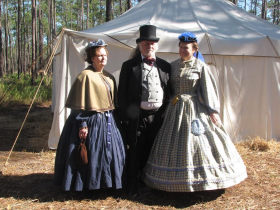 There were more than 2,500 re-enactors on hand for the 150th anniversary of the Battle of Olustee on Feb. 20. L-R: Carolyn Field, Marlin Rumage, Karen Sheets.