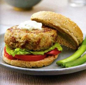Texas Tuna Burgers with Jalapeno Mayonnaise
