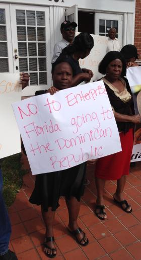 ANGER AT THE DR New Dominican immigration policy could make ethnic Haitians ineligible for citizenship in the Dominican Republic.