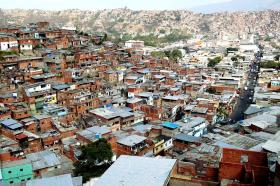 A hillside slum in Caracas, Venezuela.