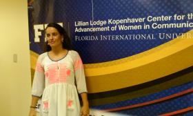 Mariana Santos spoke with students and faculty at Florida International University on Tuesday Mar. 4, 2014