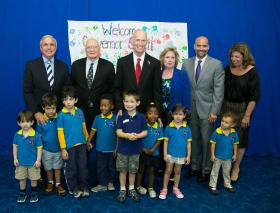Rick Scott talked preschool budgets with preschoolers.