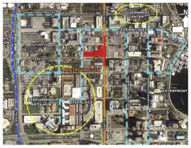 Proposed location for All Aboard Florida's West Palm Beach station.