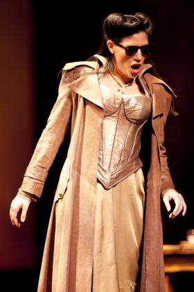 Here Maria Antunez is playing the character of Donna Elvira in Don Giovanni in 2012.