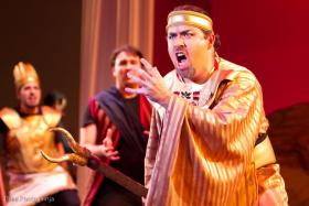 Anthony Zoeller portrays the High Priest of Dagon in the opera Samson et Dalila. He performed for St. Petersburg Opera in March of 2012.