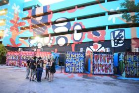 CCE Miami's Microtheater is held in shipping containers.