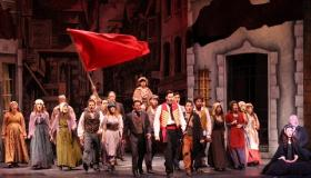 The cast of Actors' Playhouse's Carbonell Award-winning production of Les Misérables (2009).