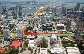 YOU ARE HERE: How the station would be situated in Miami.