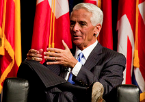 Charlie Crist says he was uncomfortable with racists in the GOP.