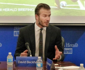 David Beckham told the Miami Herald editorial board that he wants to be '150 percent' involved in his MLS team in Miami.