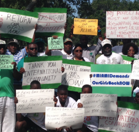 Hundreds gathered on Saturday to raise awareness around the dire situation in Nigeria.